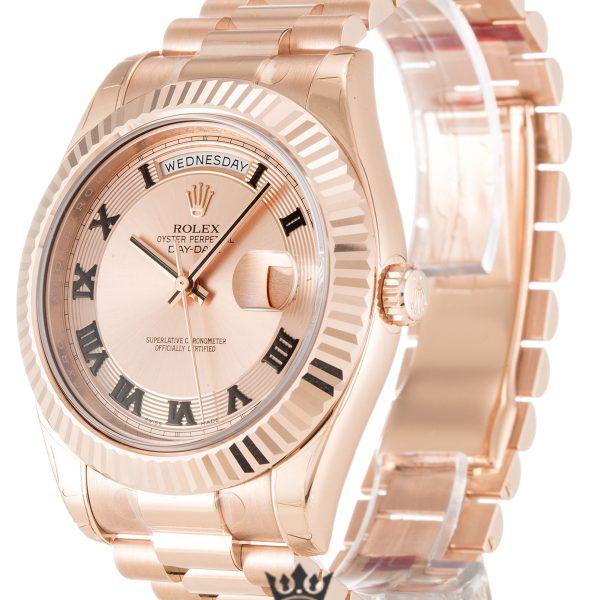 Rolex Day Date Replica 218235 003 Rose Gold Strap 41MM