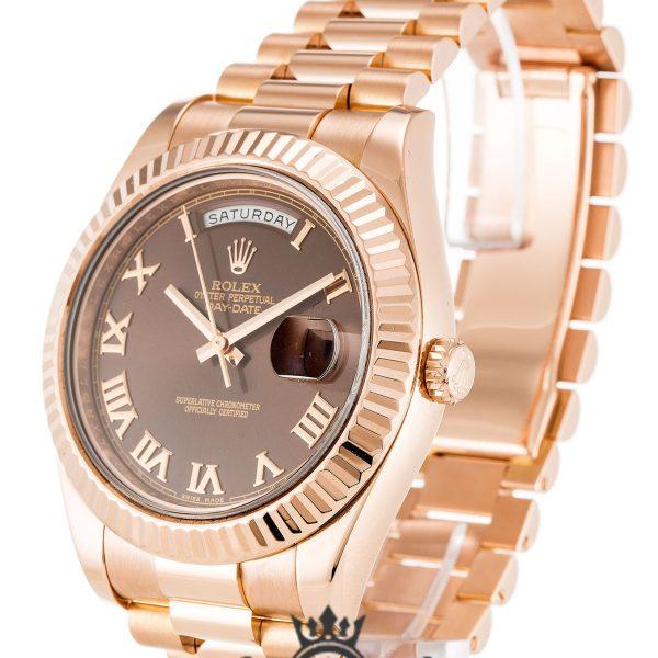 Rolex Day Date Replica 218235 004 Rose Gold Strap 41MM