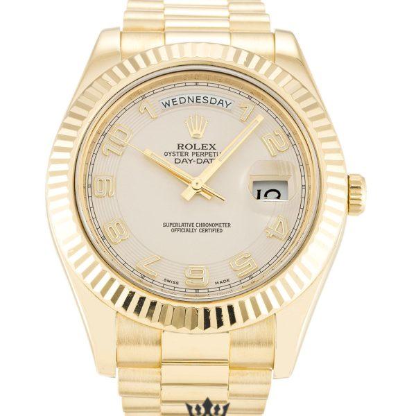 Rolex Day Date Replica 218238 001 Yellow Gold Strap 41MM
