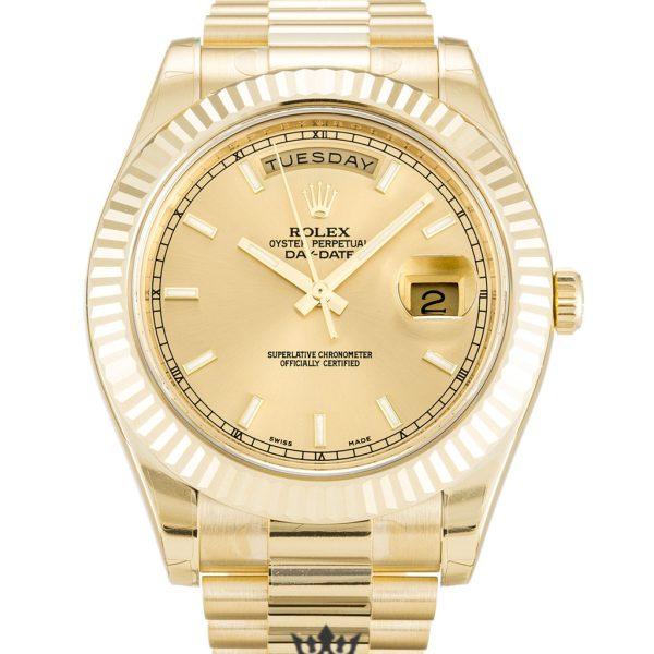 Rolex Day Date Replica 218238 002 Yellow Gold Strap 41MM
