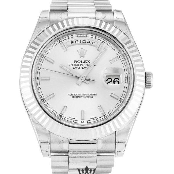 Rolex Day Date Replica 218239 001 White Gold Strap 41MM