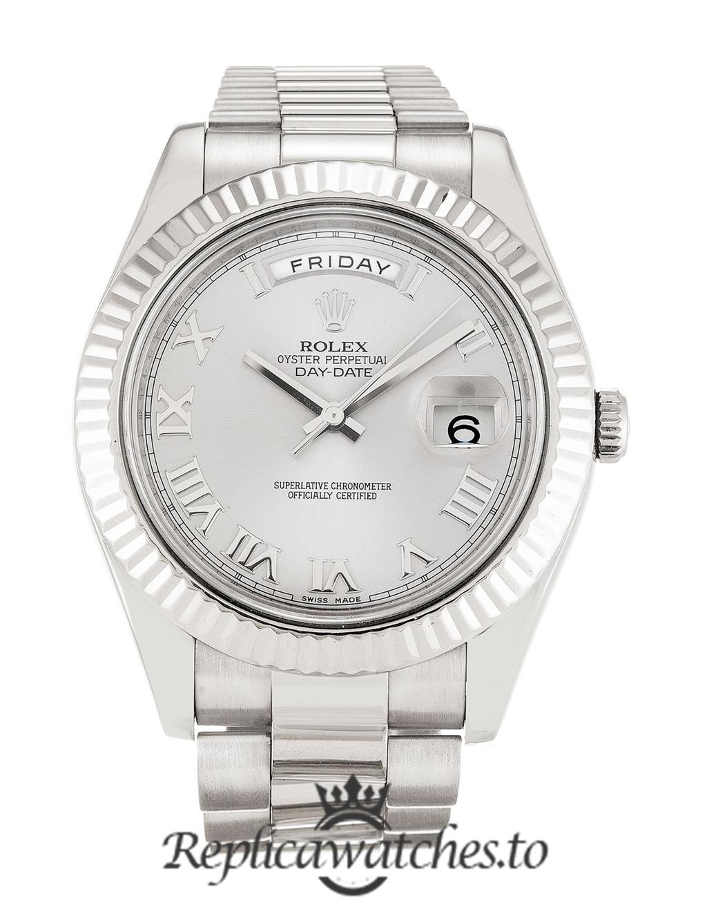 Rolex Day Date Replica 218239 White Gold Strap 41MM