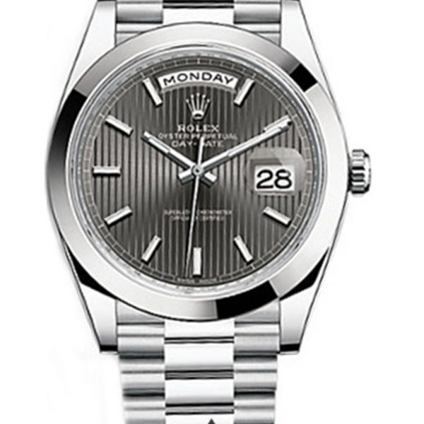 Rolex Day Date Replica 228206 001 White Gold Strap 40MM