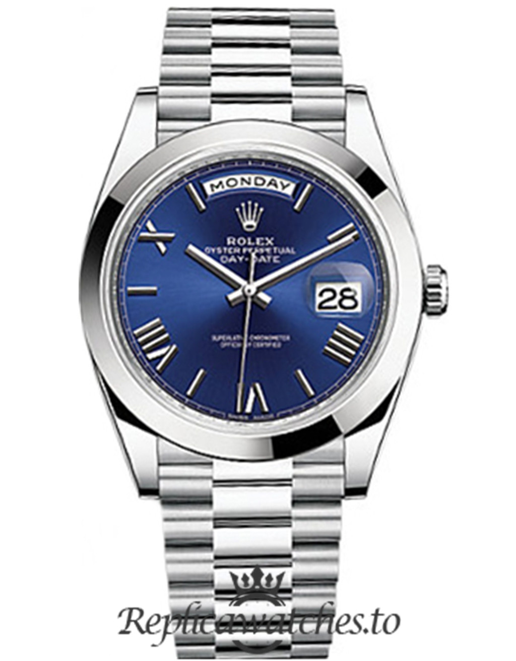 Rolex Day Date Replica 228206 Roman Markers Dial 40MM
