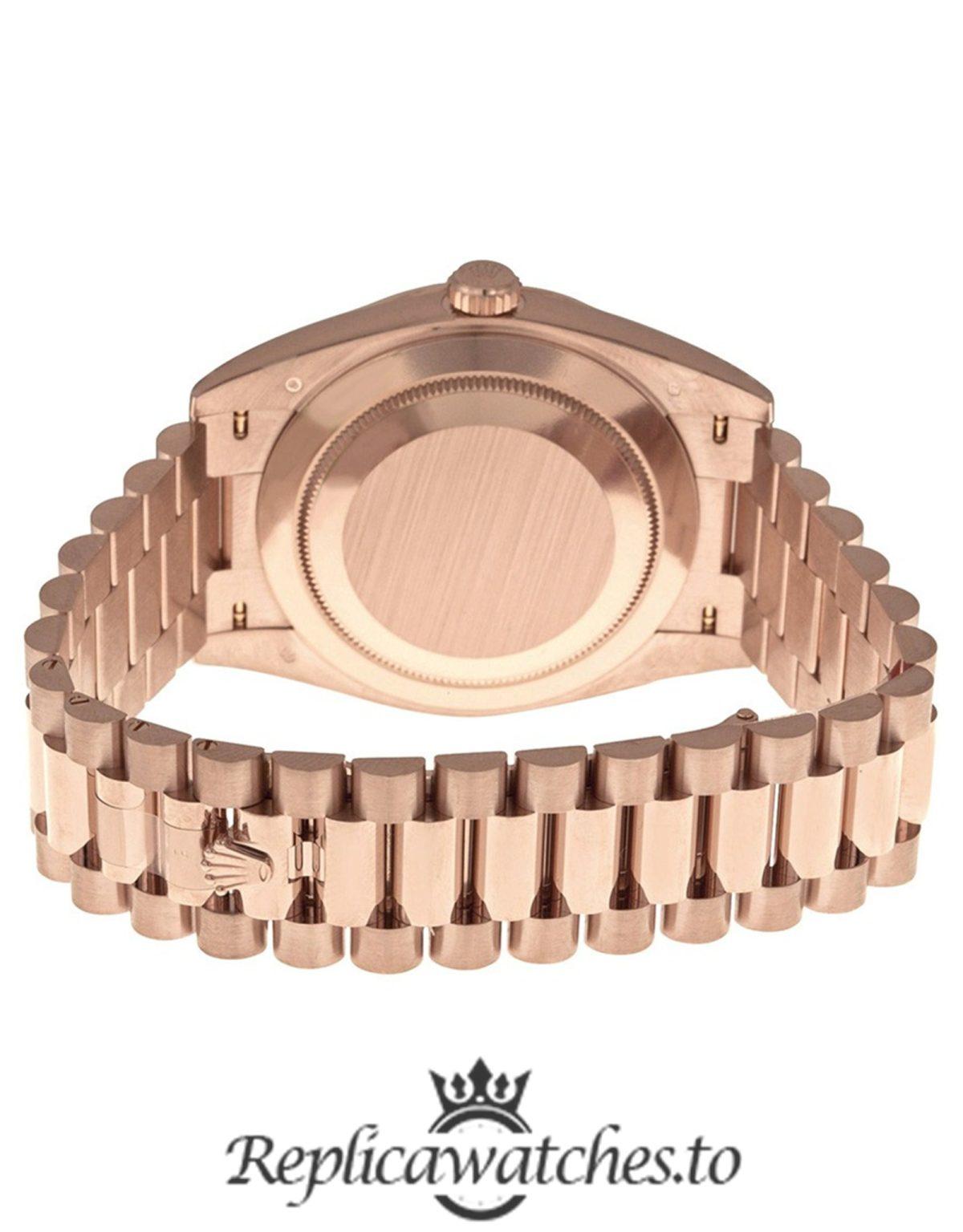 Rolex Day Date Replica 228235 001 Rose Gold Strap 40MM