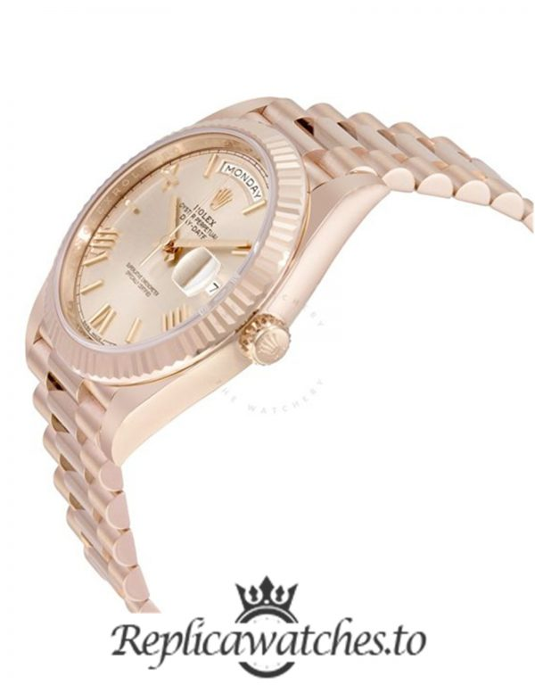 Rolex Day Date Replica 228235 003 Rose Gold Strap 40MM