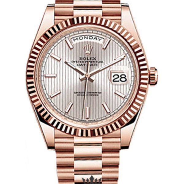 Rolex Day Date Replica 228235 004 Rose Gold Strap 40MM