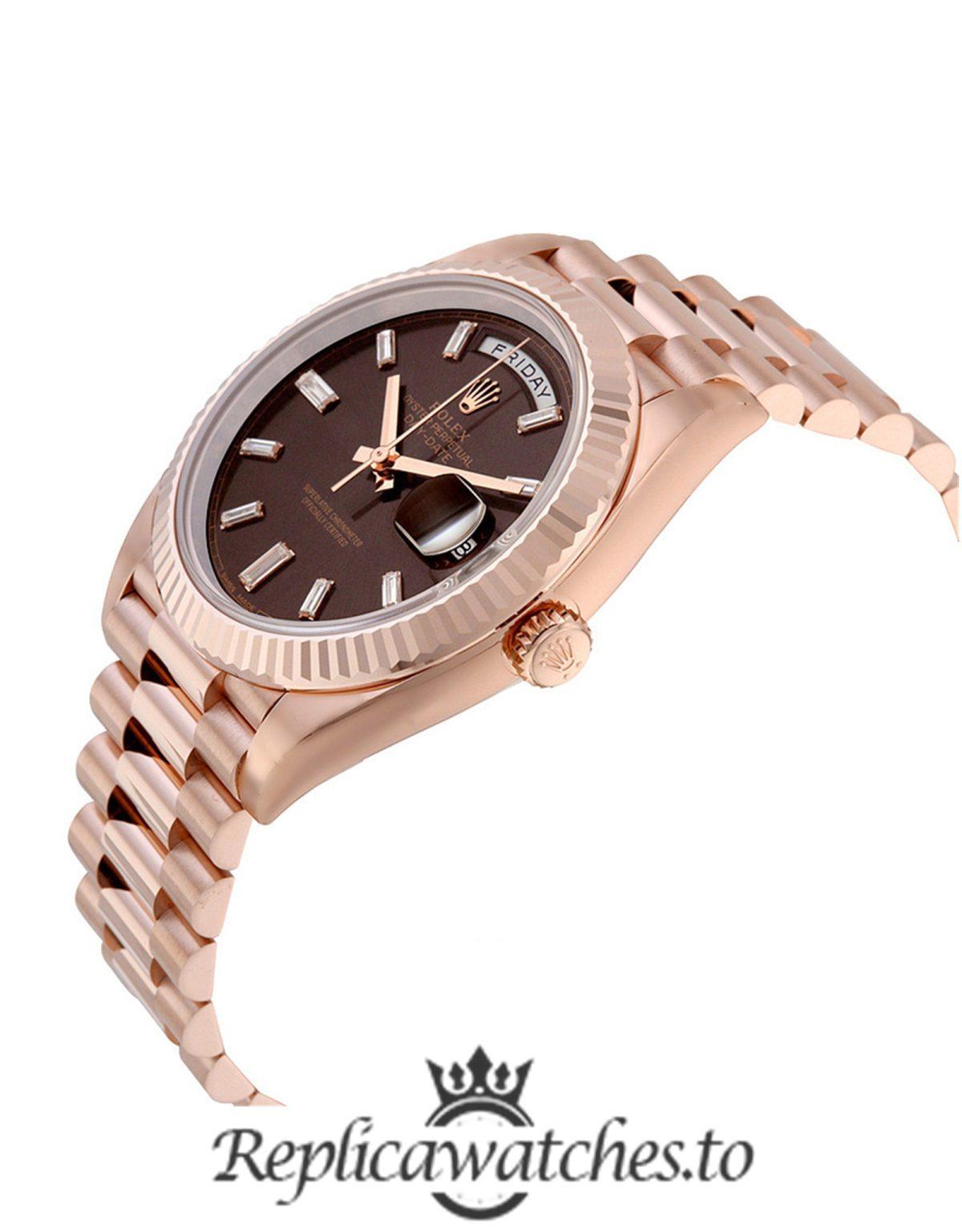 Rolex Day Date Replica 228235 Rose Gold Strap 40MM