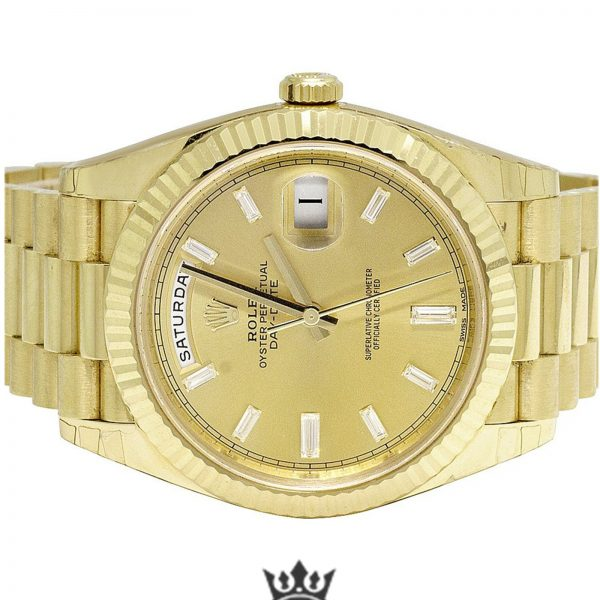 Rolex Day Date Replica 228238 001 Yellow Gold Strap 40MM