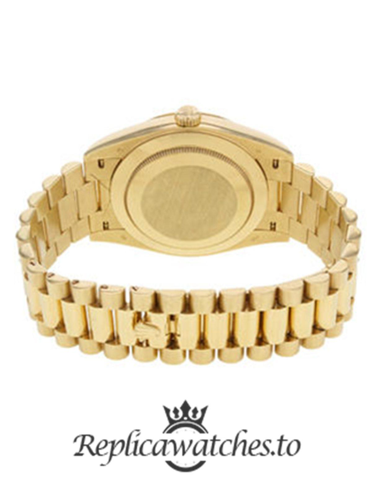 Rolex Day Date Replica 228238 001 Yellow Gold Strap 40MM