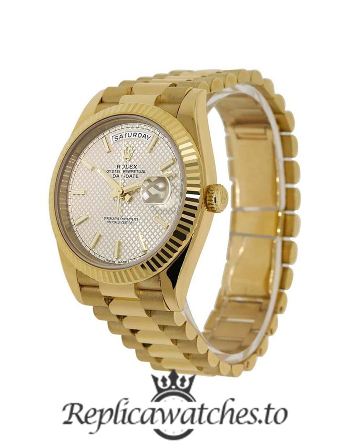 Rolex Day Date Replica 228238 004 Yellow Gold Strap 40MM