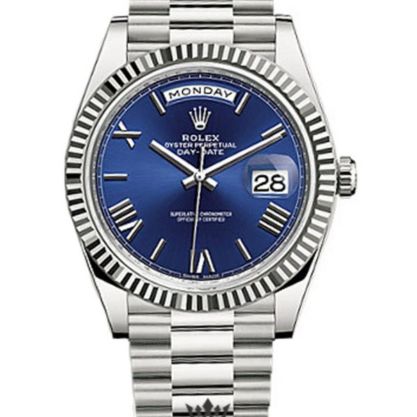 Rolex Day Date Replica 228239 001 White Gold Strap 40MM