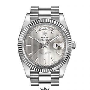 Rolex Day Date Replica 228239 005 White Gold Strap 40MM