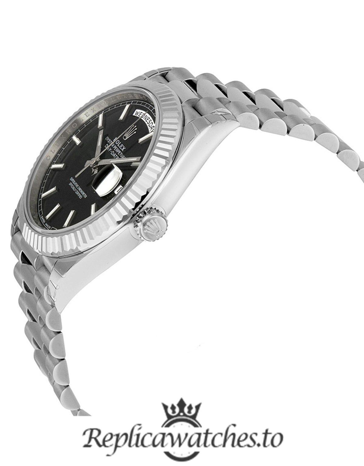 Rolex Day Date Replica 228239 White Gold Strap 40MM
