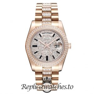 Rolex Day Date Replica 228345RBR Diamonds Dial 41MM