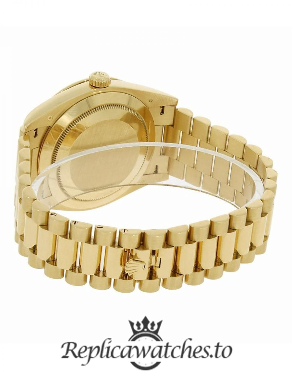 Rolex Day Date Replica 228348RBR 003 Yellow Gold Strap 40MM