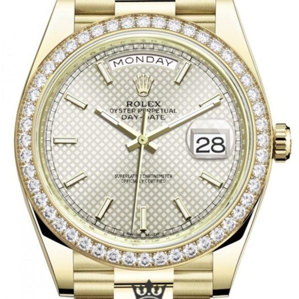 Rolex Day Date Replica 228348RBR 004 Diamonds Bezel 40MM
