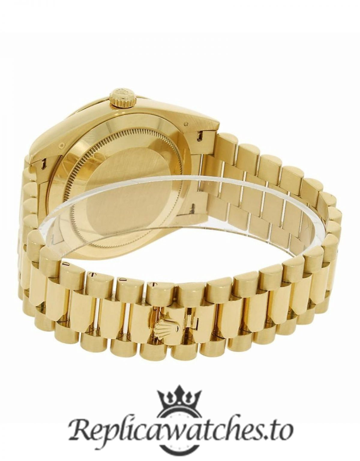 Rolex Day Date Replica 228348RBR Yellow Gold Strap 40MM