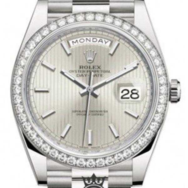 Rolex Day Date Replica 228349RBR 002 White Gold Strap 40MM