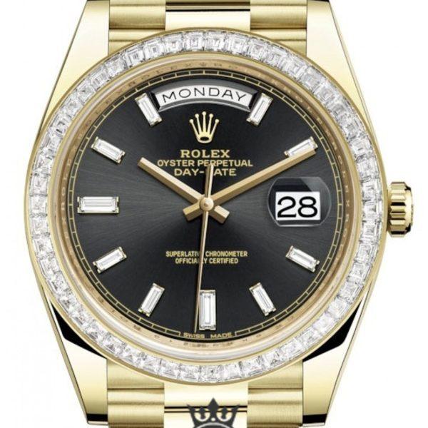 Rolex Day Date Replica 228396TBR 001 Diamonds Bezel 40MM