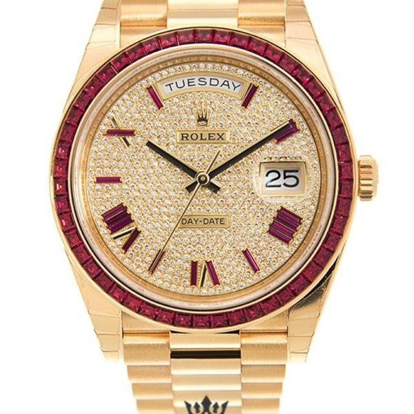 Rolex Day Date Replica 228398 DRRP Yellow Gold Strap 40MM