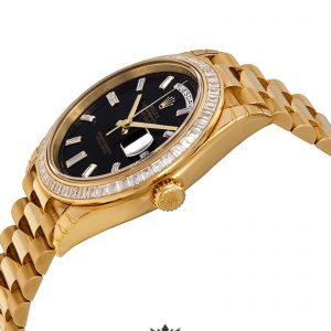 Rolex Day Date Replica 228398BKDP Yellow Gold Strap 40MM