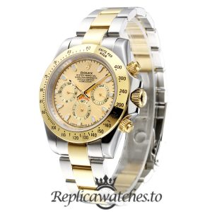 Rolex Daytona Replica 116503 Yellow Gold Bezel 40MM
