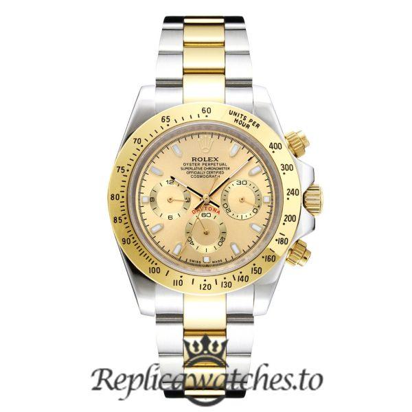 Rolex Daytona Replica 116503 Yellow Gold Bezel 40MM