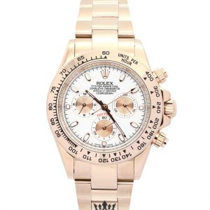 Rolex Daytona Replica 116505 001 Rose Gold Strap 40MM