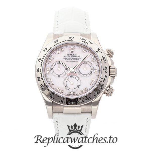 Rolex Daytona Replica 11651 White Strap 40MM