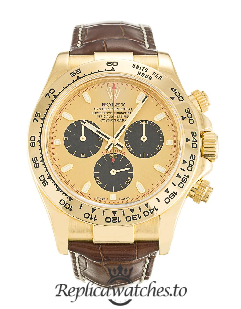 Rolex Daytona Replica 116518 003 Brown Strap 40MM