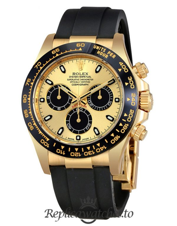 Rolex Daytona Replica 116518CBKSR Black Strap 40MM