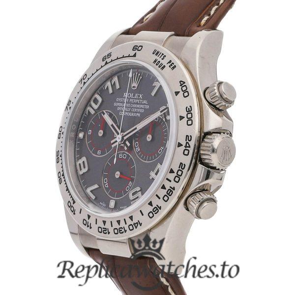 Rolex Daytona Replica 116519 001 Brown Strap 40MM