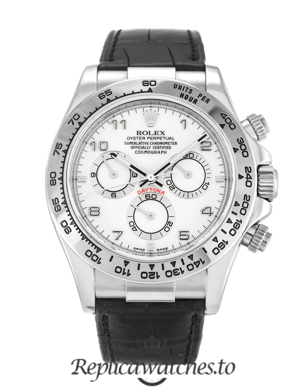 Rolex Daytona Replica 116519 002 Black Strap 40MM