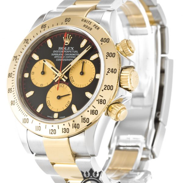 Rolex Daytona Replica 116523 001 Yellow Gold Bezel 40MM