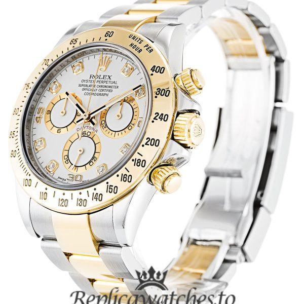 Rolex Daytona Replica 116523 007 Yellow Gold Bezel 40MM