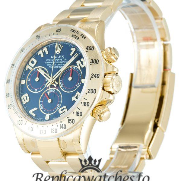 Rolex Daytona Replica 116528 002 Yellow Gold Strap 40MM