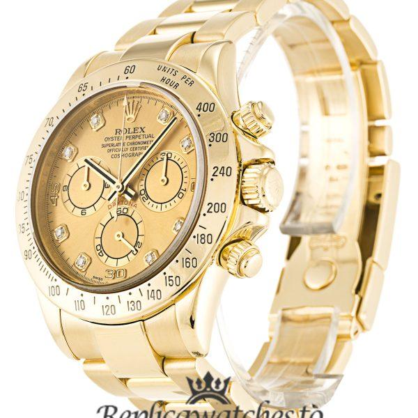 Rolex Daytona Replica 116528 005 Yellow Gold Strap 40MM