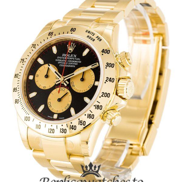 Rolex Daytona Replica 116528 Yellow Gold Strap 40MM