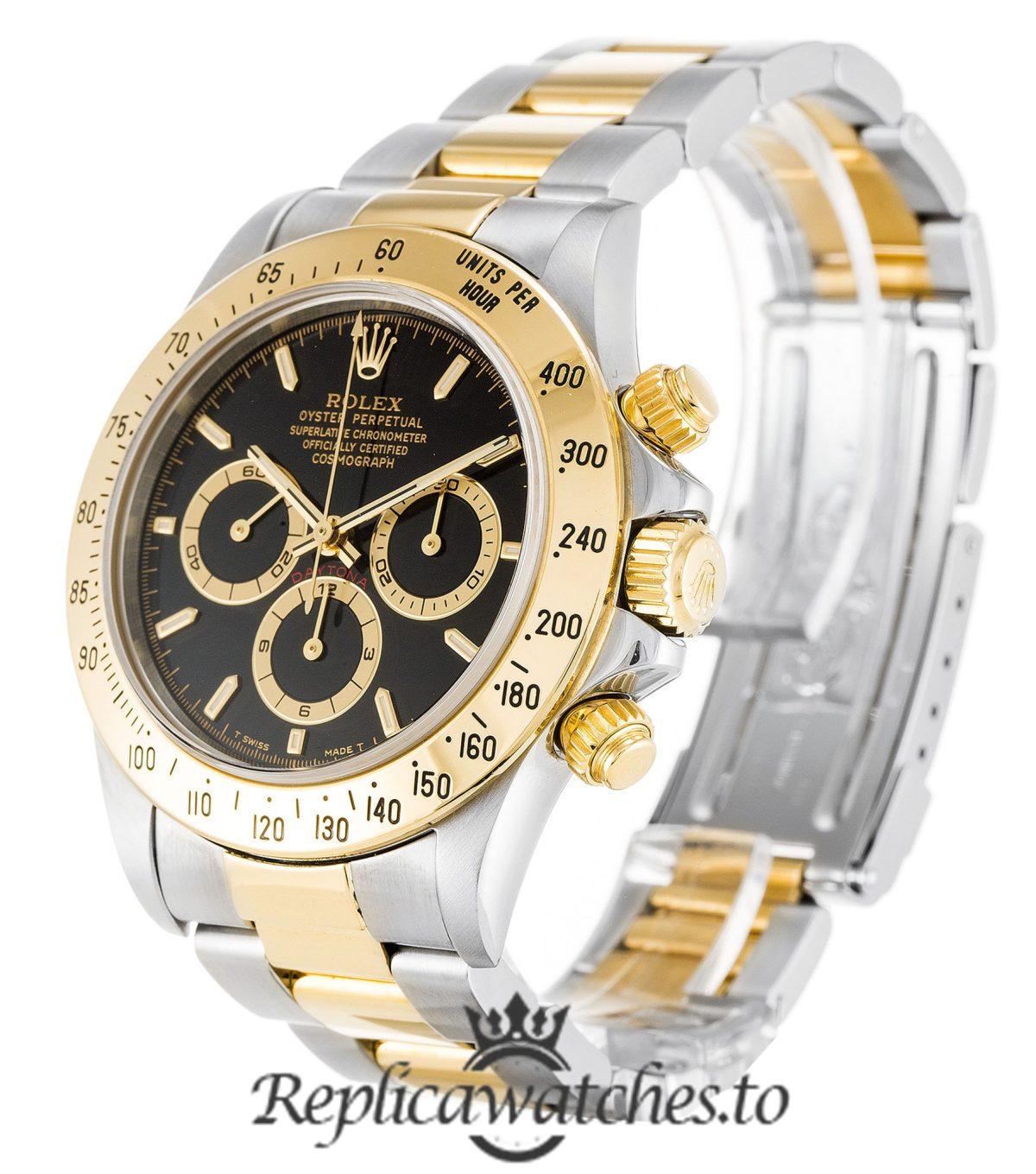 Rolex Daytona Replica 16523 002 Yellow Gold Bezel 40MM