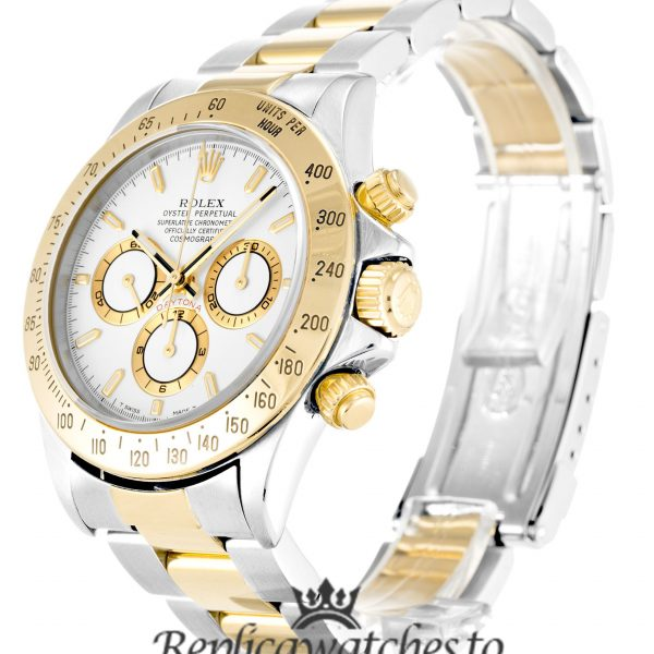 Rolex Daytona Replica 16523 003 Yellow Gold Bezel 38MM