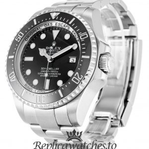 Rolex Deepsea Replica 116660 Black Bezel 44MM