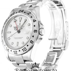 Rolex Explorer Replica 16570 Silver Strap 40MM