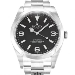 Rolex Explorer Replica 214270 001 Silver Strap 39MM