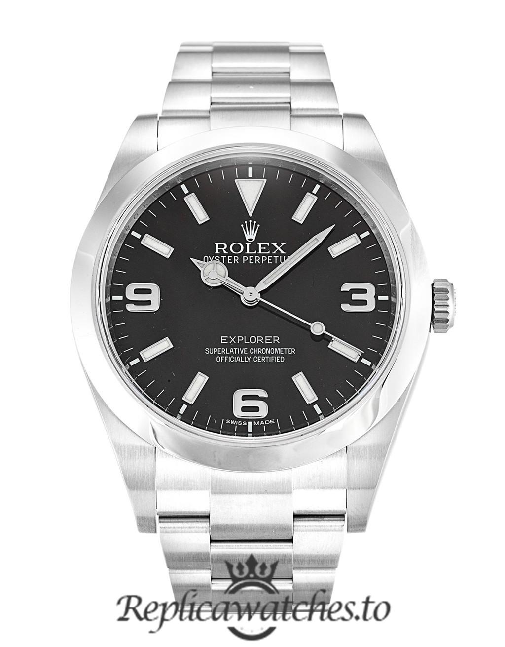Rolex Explorer Replica 214270 001 Silver Strap 39MM