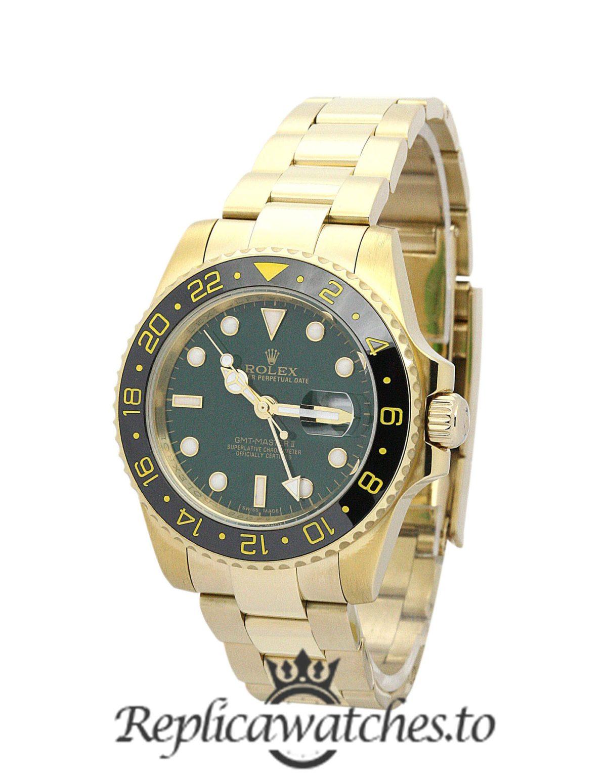 Rolex GMT Master Replica 116718 LN Yellow Gold Strap 40MM