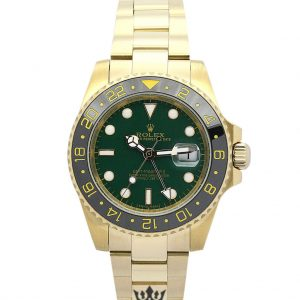 Rolex GMT Master Replica 116718 LN Yellow Gold Strap 40MM