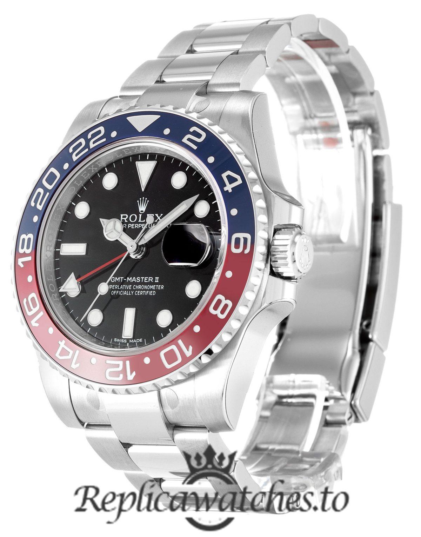 Rolex GMT Master Replica 116719 BLRO 001 Blue & Red Bezel 41MM