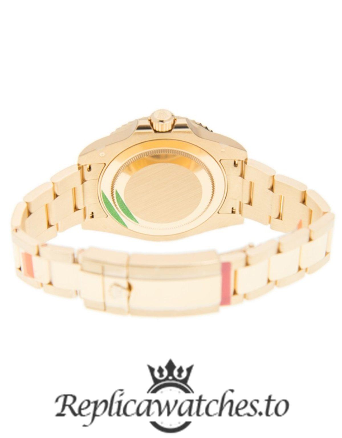 Rolex GMT Master Replica 116748SA Yellow Gold Strap 40MM