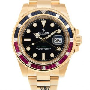 Rolex GMT Master Replica 116748SA Yellow Gold Strap 40MM
